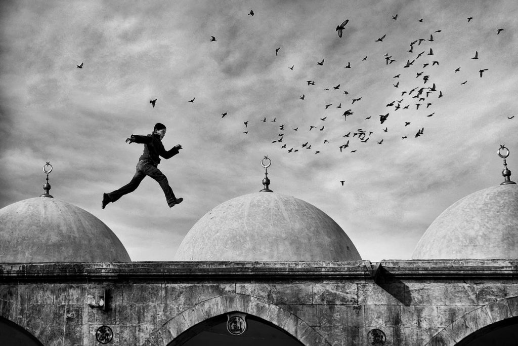 IAAP Gold Medal - Cihan Karaca (Turkey) - Birds and flying child